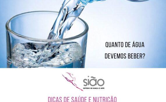 O cálculo feito é 35 ml de água multiplicado pelo peso corporal. Por exemplo: Uma pessoa de 60 kg deve tomar 2,1 litros de água por dia.